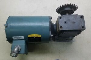 Baldor P56x1338 Motor 5 Hp 3 Ph V 208 230 460 With Gearbox