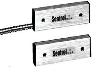Sentrol 2507ah l Biased Aluminum Housing Door Contact With Armored Cable