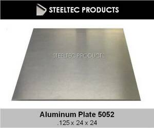 2 Pieces 1 8 125 Aluminum Sheet Plate 24 X 24 5052 Save When You Buy 2