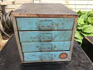 Union Chests Vtg Steelmaster Metal Cabinet Industrial File 410 Card Catalog