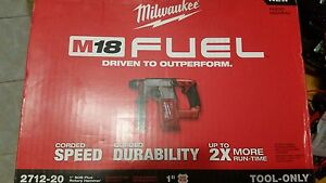 New Milwaukee M18 Fuel 1 Sds Plus Rotary Hammer tool Only 2712 20