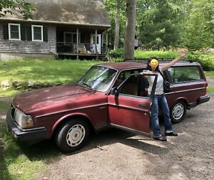 1986 Single Owner Volvo 240 5 Speed Wagon Berry Cherry Red Car