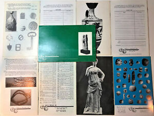 Ancient Art Antiquities Holy Land Asiatiic Greek Roman Set 9 Catalogs Reference