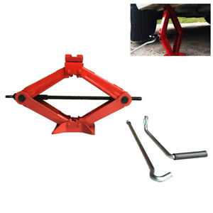 1 5 Ton Heavy Duty Scissor Jack Auto Cars Emergency Repair Lift Tool Quickly