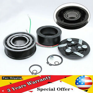 Ac A C Compressor Clutch Assembly Kit Pulley Fit 2002 2006 Honda Cr V 2 4l Coil