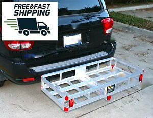 Cargo Carrier Trailer Hitch Lightweight Auto Basket Rack Luggage Receiver Mount