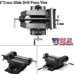6inch Cross Drill Press Vise Slide Metal Milling 2 Way X y Clamp Machine Black