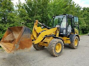 2014 Caterpillar Cat 908h Compact Wheel Loader W bucket Forks 1875 Hours