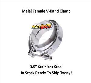 Brand New 3 1 2 Male female Stainless Steel V band Clamp
