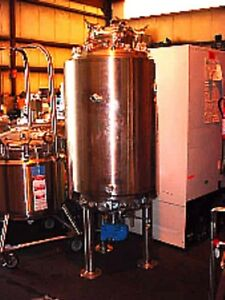 132 Gallon 500 Liter 316 L Stainless Steel Jacketed Reactor Bottom Mount Mixer