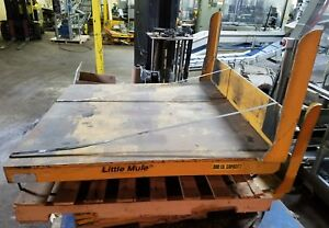 Pneumatic Pallet Upender Tipper Little Mule 48 x48 4000lb Capacity