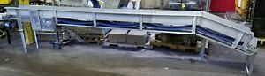 Stainless Steel 13 l X 12w Conveyor With Plastic Belt Incline Section Is 32