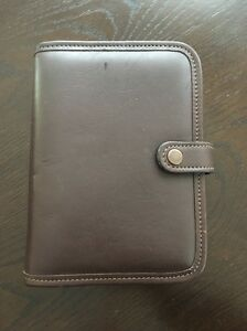 Jack Georges Organizer Agenda Day Planner Brown Full Grain Leather New