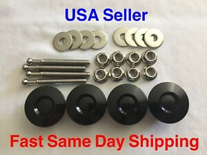 1 25 Black Mini Quick Release Push Button Latch Quic Hood Pins Aluminum