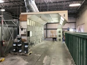 Large Spray Booth Open Side Woodworking Cabinets High Production Great Price