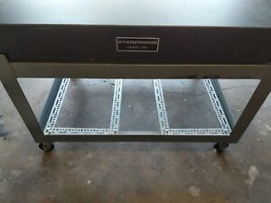 Standridge Granite Surface Plate Grade A 36 x48 With Rolling Metal Stand