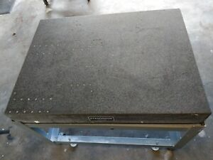 Standridge Granite Surface Plate Grade B 36 x48 With Rolling Metal Stand
