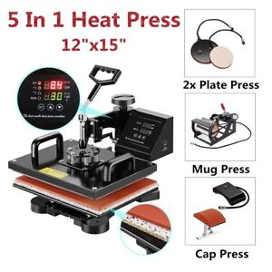 5 In 1 Heat Press Digital Sublimation Transfer Machine For T shirt Mug Printing