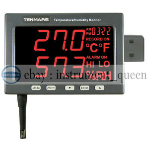 Tenmars Tm 185d Temperature Humidity Led Monitor Data Logging Capacity 30000