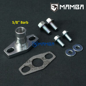 Mamba 5 8 Barb Turbo Oil Return Drain Flange Kit Garrett T25 T28 Tb25 Tb28