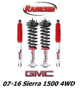 Rancho Front Leveling Struts Rs5000x Rear Shocks For 07 16 Sierra 1500 4wd