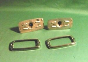 2 X Hella Taillights Holder Brackets Parts Porsche 356 Pre A Nos