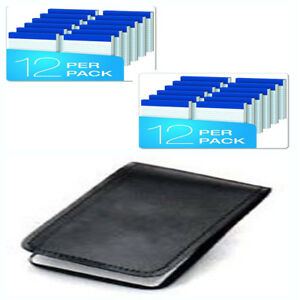 3 X 5 Narrow Perforated 24 Writing Pads Leather Book Covers Note Pad Holder