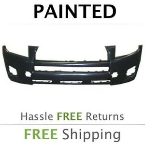Fits 2009 2010 2011 2012 Toyota Rav4 Front Bumper Cover Painted W out Flares