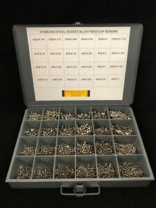 2100pcs Assortment Kit Stainless Steel Socket Head Cap Screw Hex Allen Drive