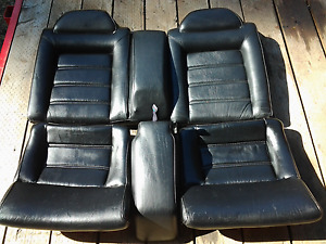 Vw 90 94 Corrado Black Leather Back Rear Seats With Arm Rest