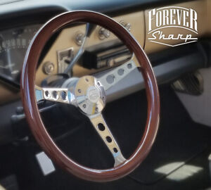15 Sebring Mahogany Wood Steering Wheel 3 Spoke