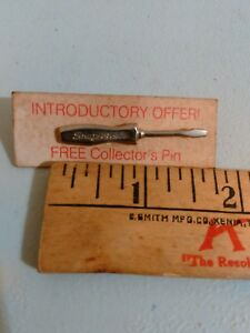Vintage Pin Snap On Tools Old Screwdriver Pin Back