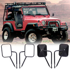 Door And Side View Hinge Mirrors Fit For Jeep Wrangler Jk Tj Cj Yj 199