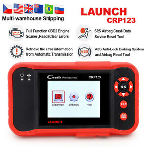 Abs Airbag Transmission Engine Check Auto Obd2 Scanner Launch Crp123 Code Reader