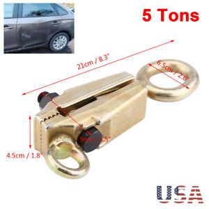 5 Ton Self Tightening Grip Frame Body Repair Pull Back Clamp Puller Dent 2 Way