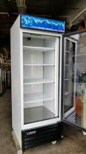 Everest Emgr24 28 Single Glass Swing Door Merchandiser Refrigerator Works Good