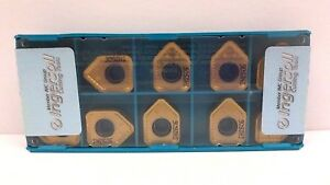 Ingersoll 5873349 Carbide Milling Inserts 015 Radius 256 Thick Box Of 10