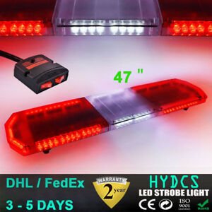47 88led Emergency Warning Beacon Car Truck Response Strobe Light Red White Red