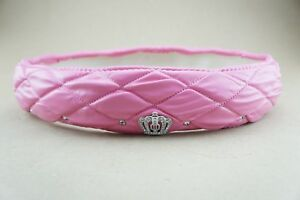 New Universal Steering Wheel Cover Leather Shinny Crystal Crown Pink Girl Gift