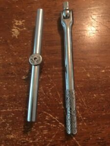 Snap On Tools Vintage Breaker Bar And Slide Bar 1 4 Dr Usa