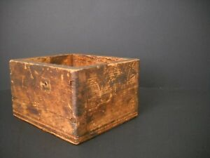 4 5 Small Shabby Antique Woodenware Box Former Vintage Wood Work Bench Drawer