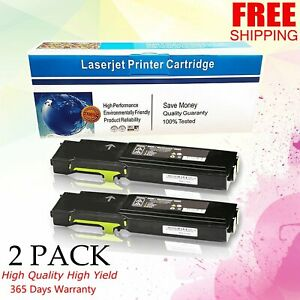 2 pk Yellow Toner For Xerox Workcentre 6605 6605dn 106r02227 Phaser 6600 6600dn