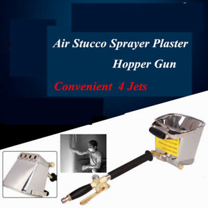 Cement Mortar Concrete Air Stucco Hand Plastering Sprayer Hopper Paint Wall Gun