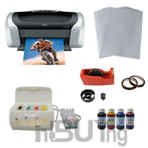 Epson C88 Printer Ciss Ink System 4bottles Sublimation Ink A4 Paper Tape Kit