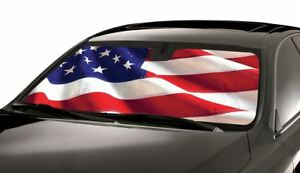 Custom Usa Flagshade Windshield Sun Shades