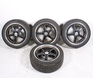2006 2009 Volvo C70 T5 Cabriolet Set Of 4 Wheel And Tire 225 45 R17 Oem