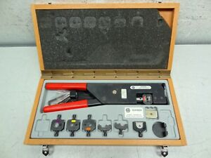 Huber suhner 76z 0 0 15 Large Crimp Tool With Interchangeable Inserts