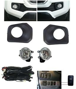 Clear Fog Lights Lamps Kit Harness Bezels Bulbs For Toyota Tacoma 2016 2017 2018