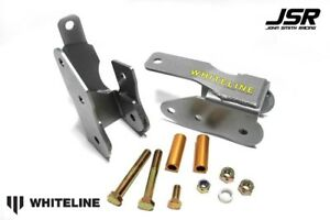 05 14 Mustang All Models Whiteline Rear Lower Control Arm Relocation Brackets