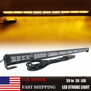 39 36led Car Flashing Emergency Light Bar Hazard Traffic Advisor Warning Strobe
